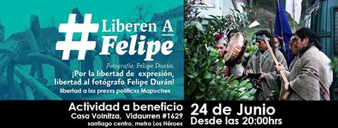 SANTIAGO: # LIBEREN A FELIPE, ACTIVIDAD A BENEFICIO