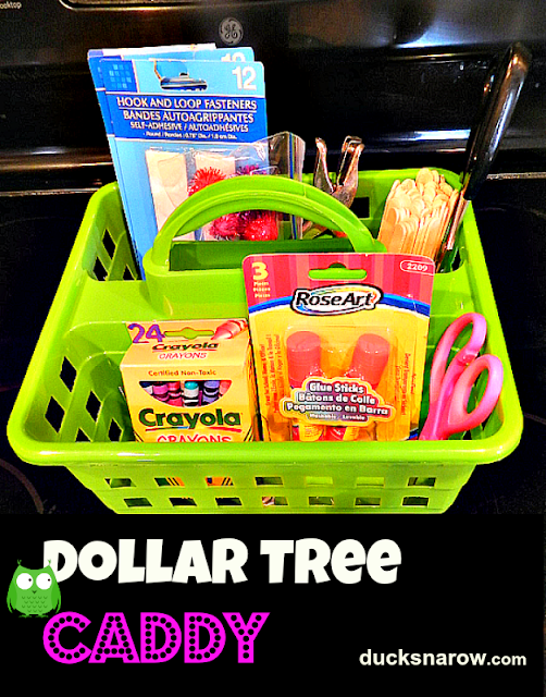 school supplies, preschool crafts, teacher ideas, Dollar Tree, tote