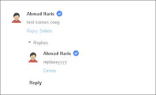 Penampakan threaded comment