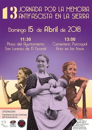 XIIIª Jornada por la Memoria Antifascista de la Sierra