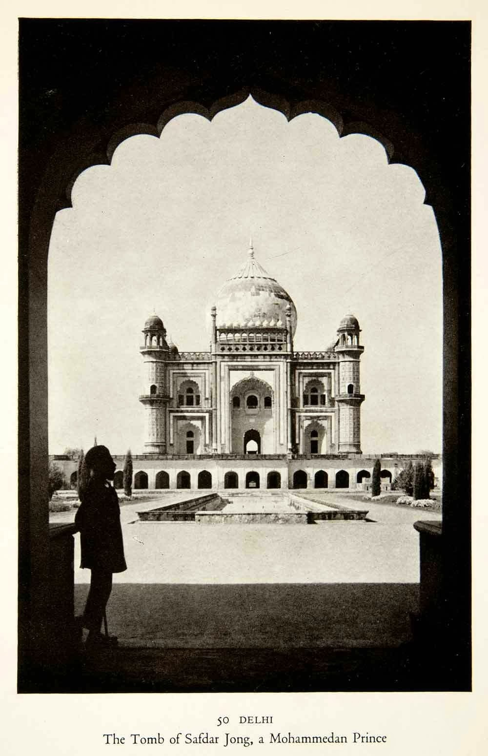 Tomb of Safdarjung - New Delhi 1938 - Old Indian Photos