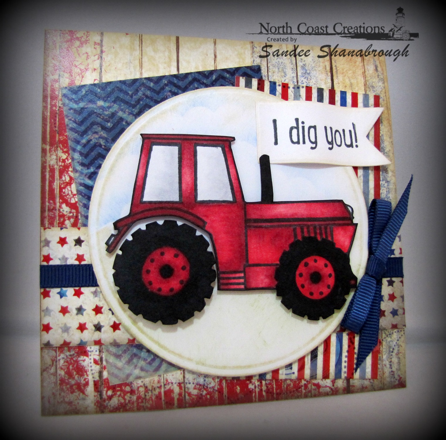 Stamps - North Coast Creations I Dig You, Our Daily Bread Designs Patriotic Paper Collection, Our Daily Bread Designs Custom Pennants Die