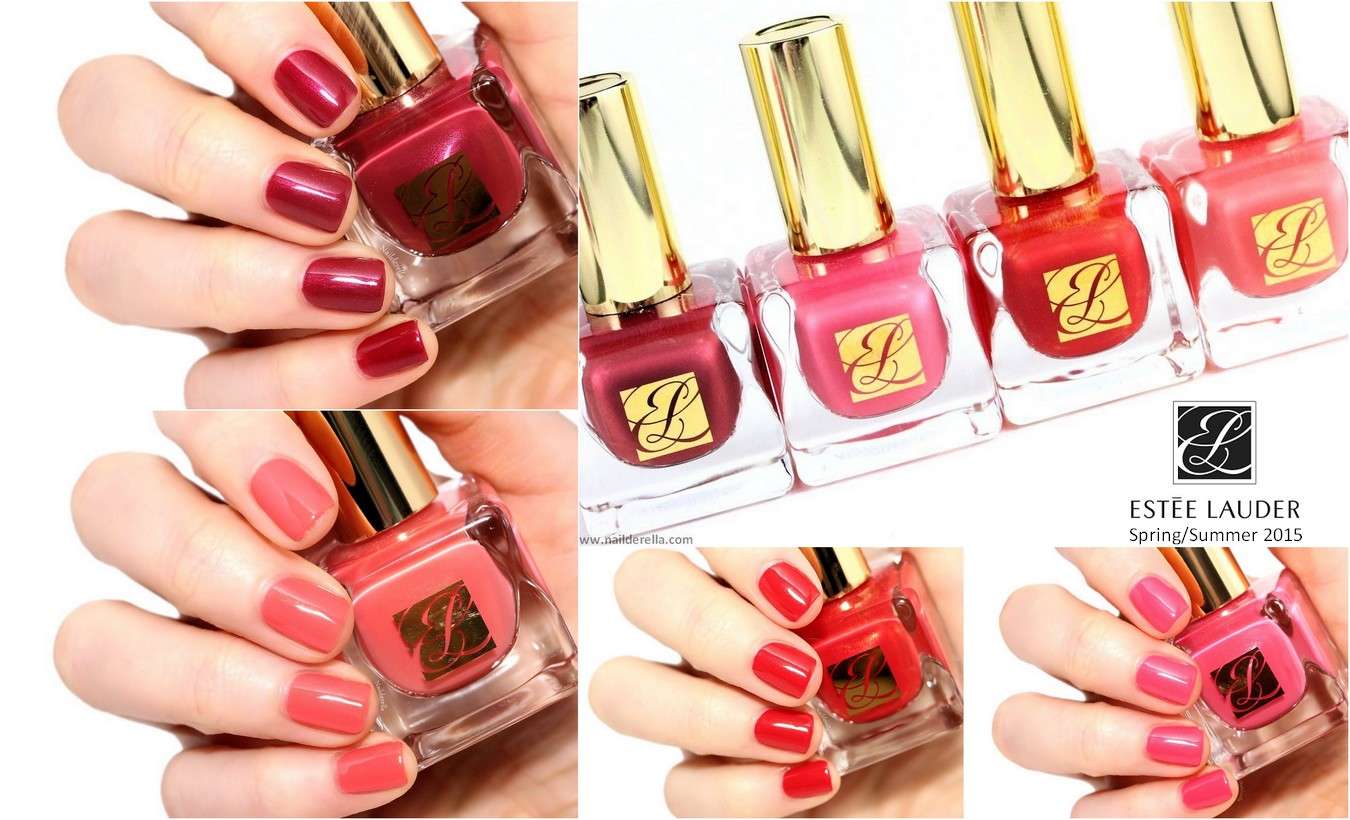 estée lauder pure color envy nail lacquers for spring 2015 nailderella