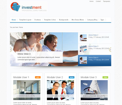 JP Investment Joomla Template Free Download.