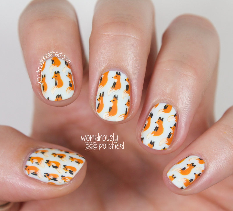 Wondrously Polished: 31 Day Challenge 2.0, Day 1 - Orange: Cute Fox ...