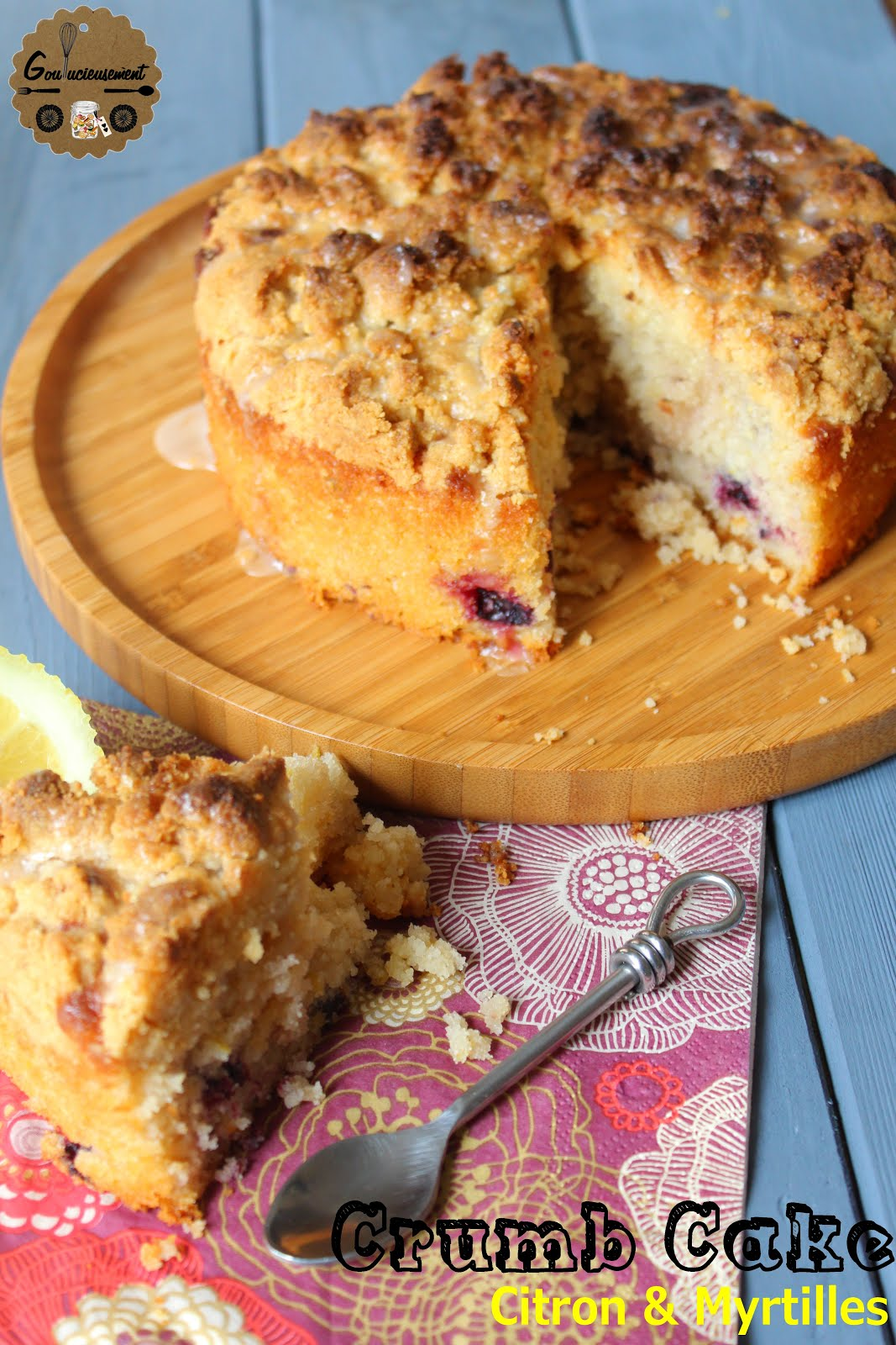 Goulucieusement Crumb Cake Myrtilles Et Citron