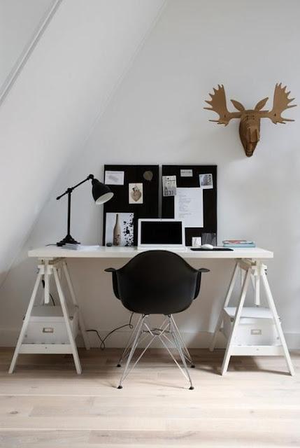 Inspiracion como hacer un escritorio low cost boho deco for Escritorio low cost