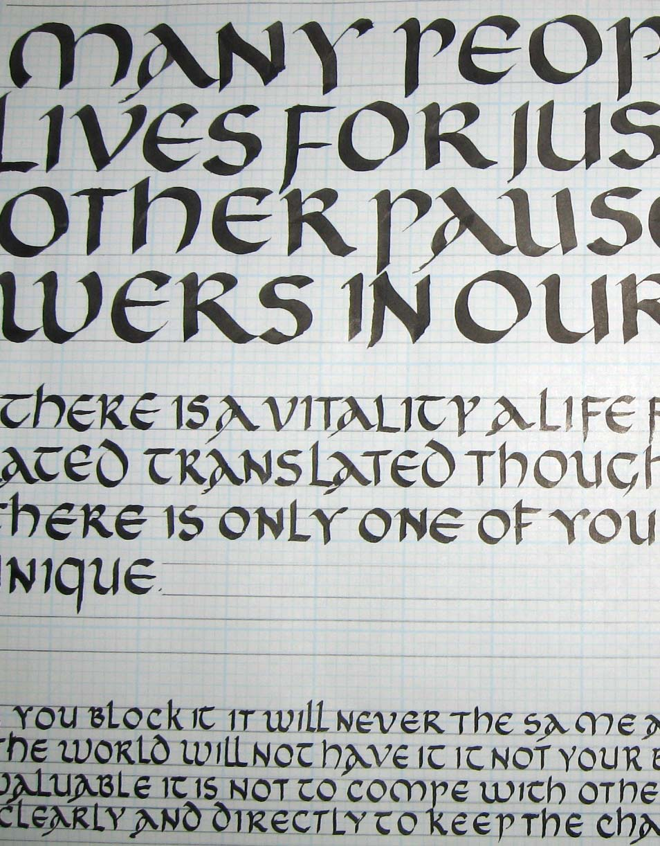 DeAnn Singh Calligraphy: Calligraphic Styles