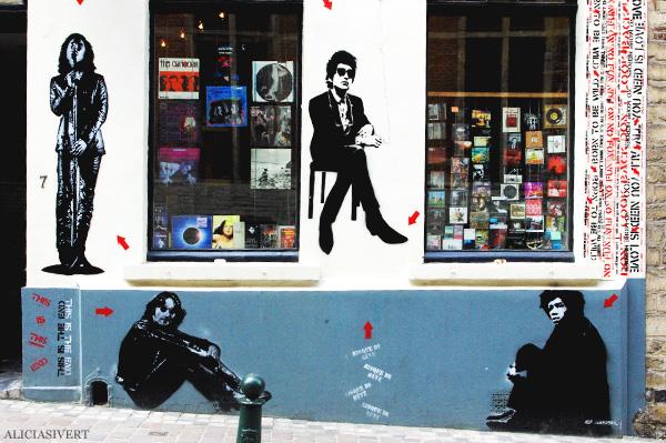 aliciasivert, alicia sivertsson, street art, graffiti, gatukonst, klotter, tags, bussels, bruxelles, bryssel, stencil, schablon, hus, building, jef Aérosol, jimi hendrix, bob dylan, john lennon, music, musik, legender