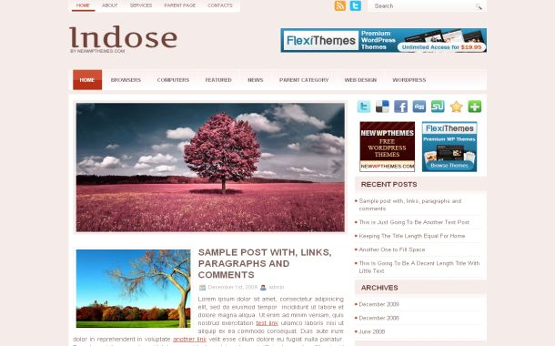 Grunge Pink Magazine Jquery Free Wordpress Theme