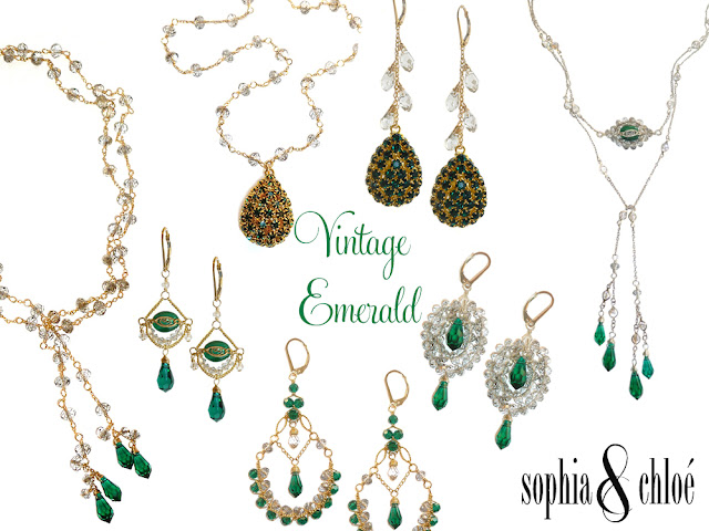 Sopphia & Chloe Vintage Emerald Jewelry Collection