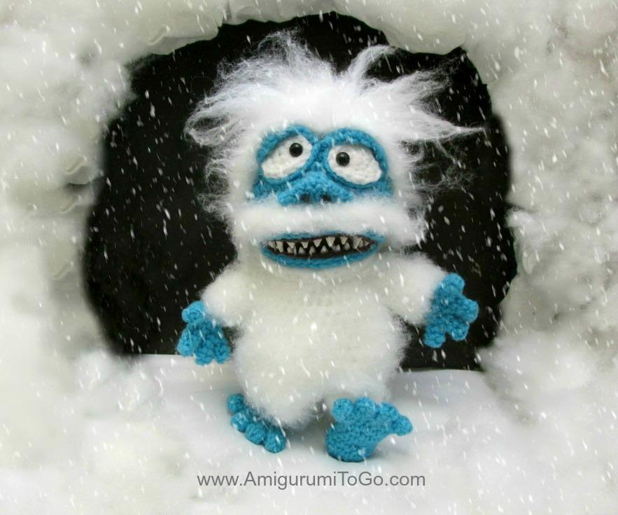 crochet snow monster