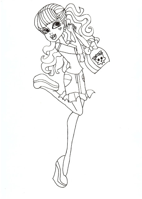 Scaris Draculaura Free Coloring Sheet