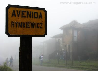 Placa de ferro da avenida Rymkiewicz, em Paranapiacaba