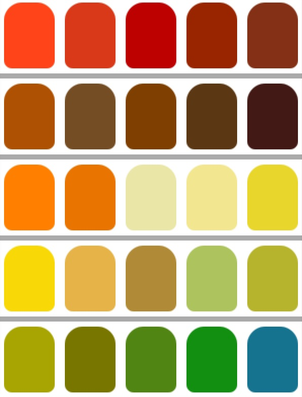 Your choice colores y armon as ii - Paleta de colores verdes ...