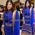 High Neck Rich Churidar in Blue