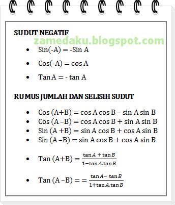 Rumus Rumus Trigonometri Matematika Zamedaku Share
