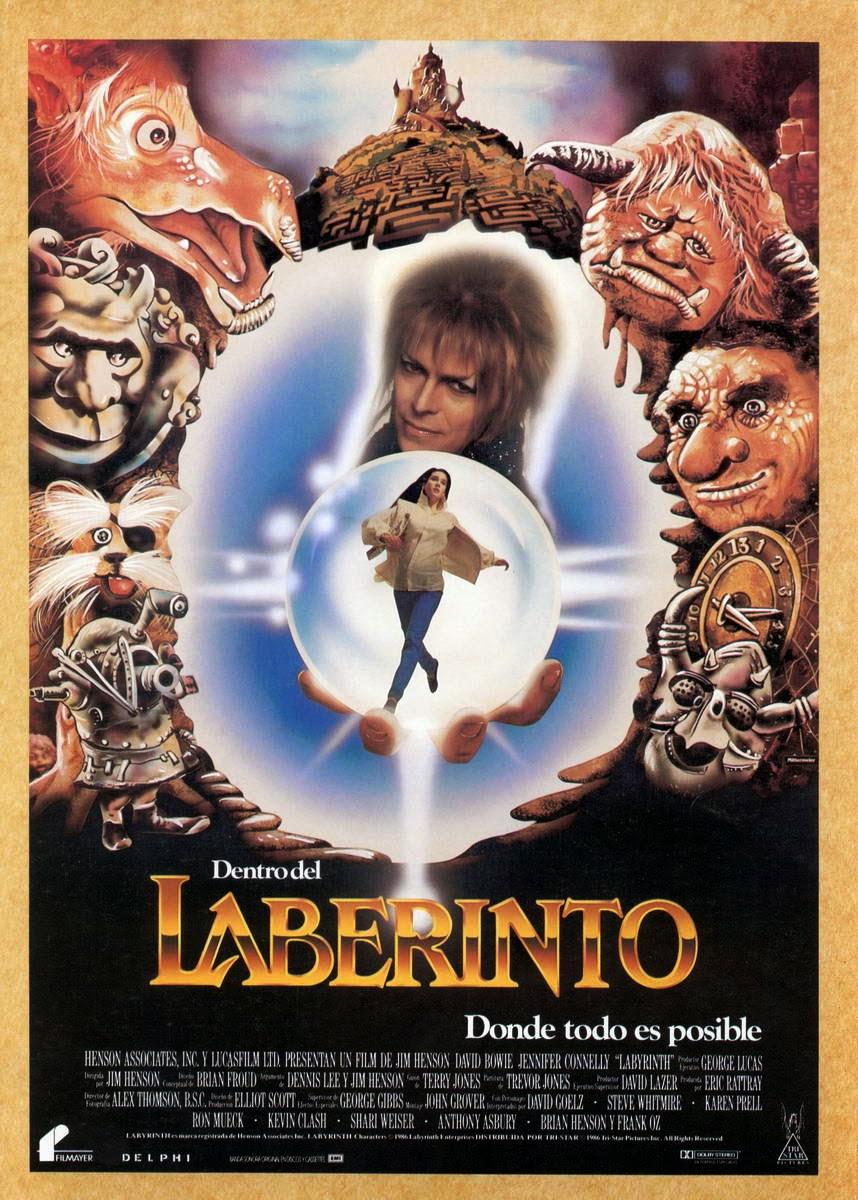 Les recomendamos una película fantástica estadounidense Labyrinth de 1986 dirigida por Jim Henson, protagonizada por Jennifer Connelly (Sarah) y David Bowie (Jareth el Rey de los Goblins).
