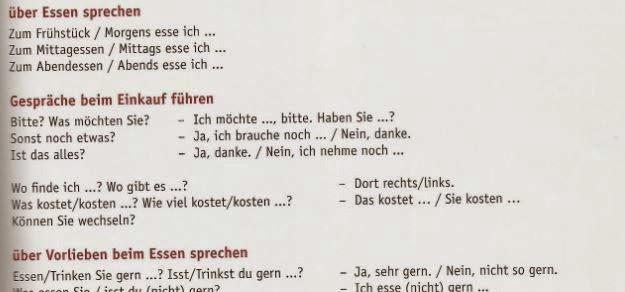 Deutsch mit Frau Virginia D\'Alò: Essen und Trinken (Teil 2): Redemittel