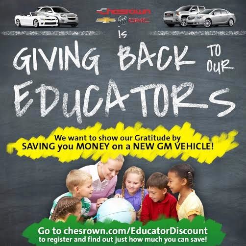 GM Educator Discount at Chesrown in Delaware, OH