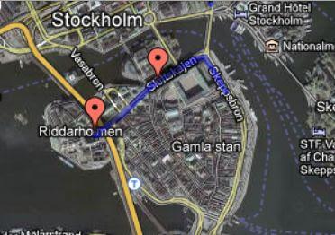 Маршрут шествия шведских нацистов