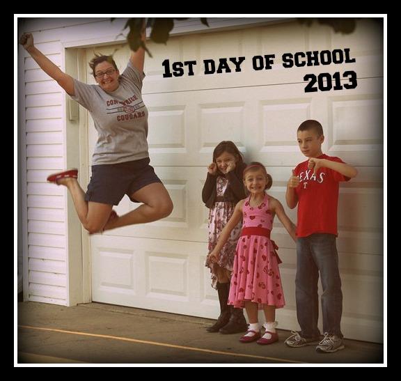 It's the first day of school! wahooooo!