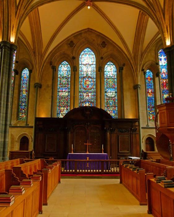 East window, Christopher Wren, Temple Church