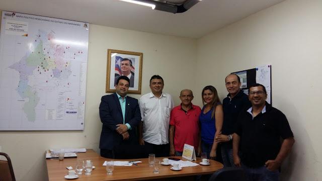 Líderes de Bernardo do Mearim acompanhados de Mávio Rocha e Chico Moreno buscam incentivos junto a Secretaria de Agricultura Familiar do Maranhão