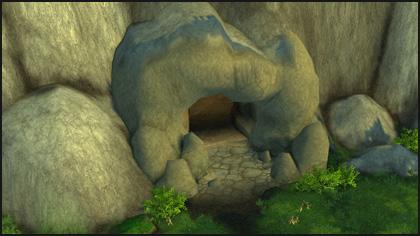 Gem cache in a cave