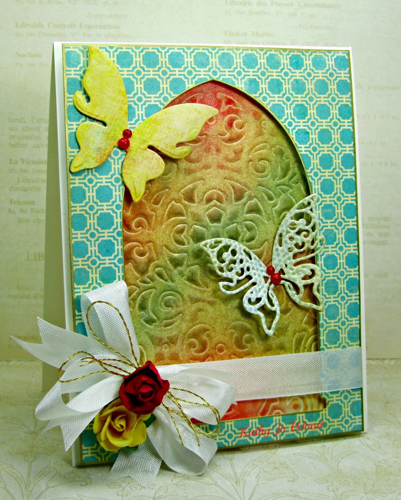 arched windows one, be amazing, butterflies, card, ideas, Les Papillions Two, my minds eye, Spellbinders, tapestry, to make,