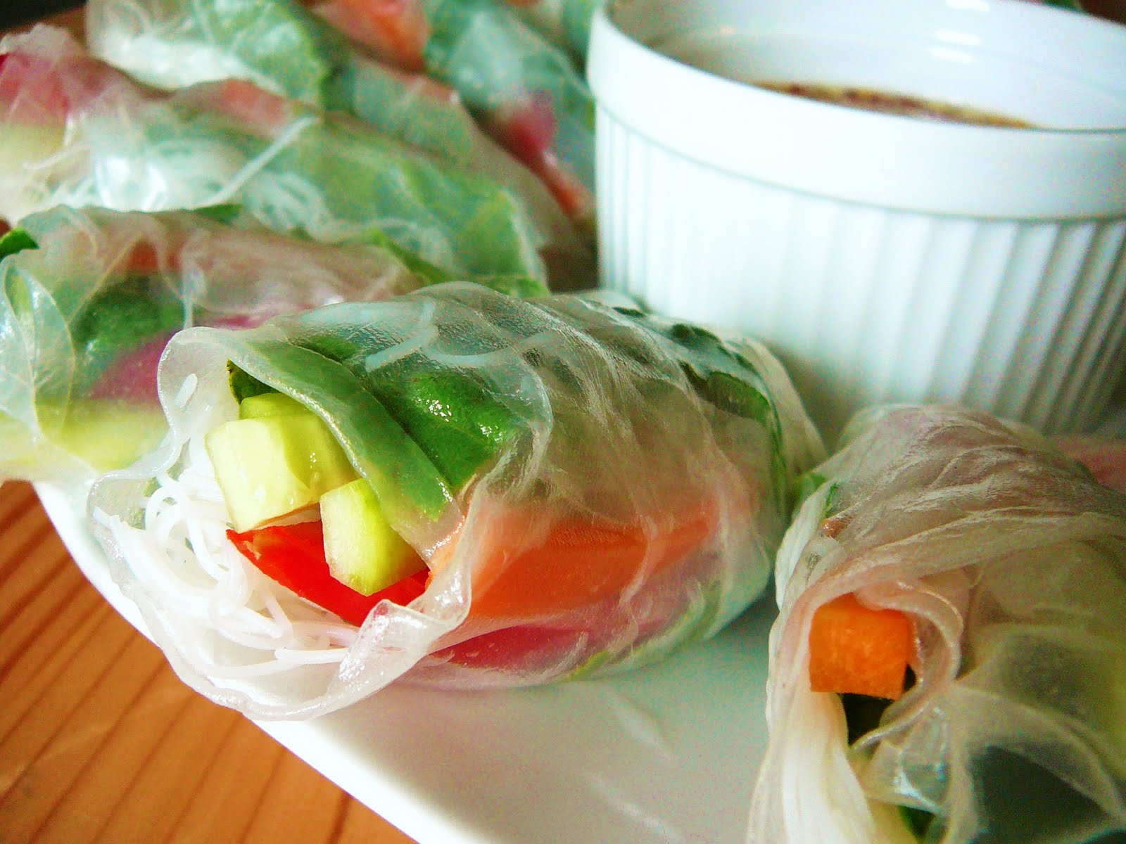 Eighty Twenty: 80--- Vegetable Spring Rolls with Ginger Lemongrass ...