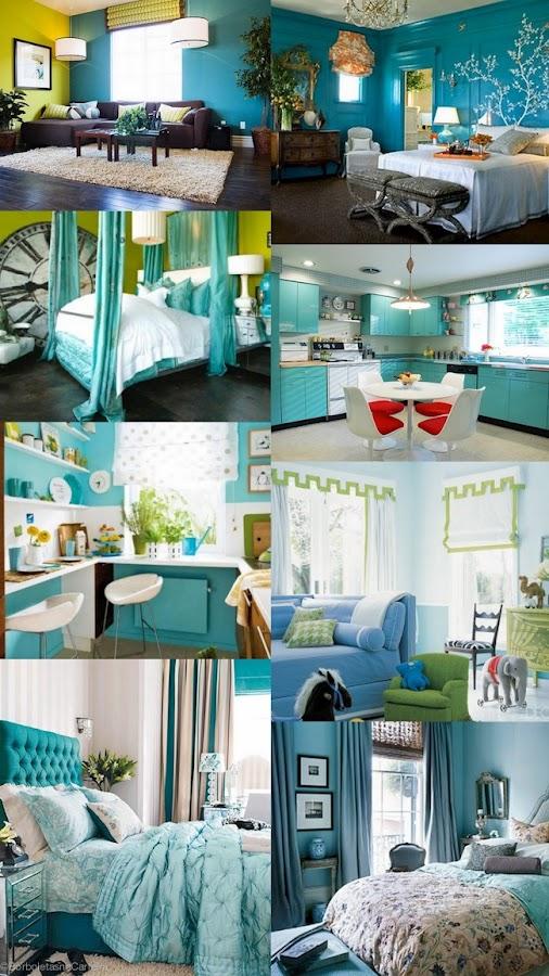 Dormitorio en azul turquesa for Dormitorio azul turquesa