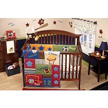Little Bedding Lil Champ Set, Blue/Red