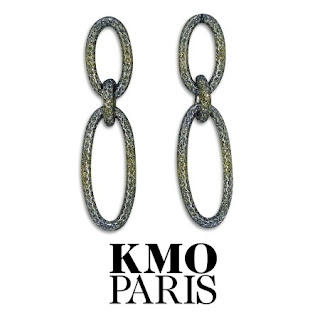 KMO PARIS Gold Link Earrings