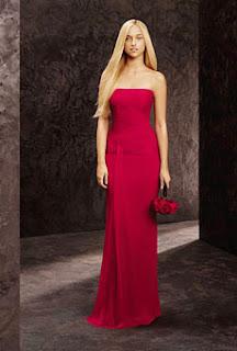 Vestido rojo de boda de noche Vera Wang