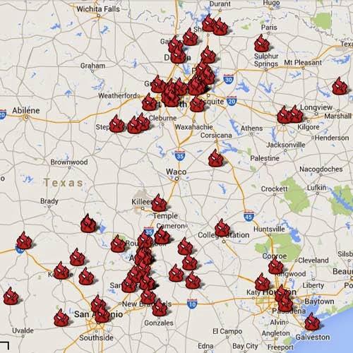 Map: Texas BBQ Posse Favorites