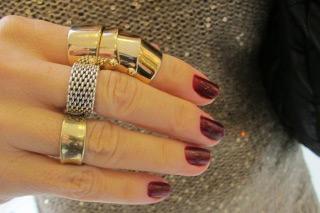 anel articulado dourado