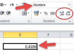 Bouton ajouter diminuer décimales