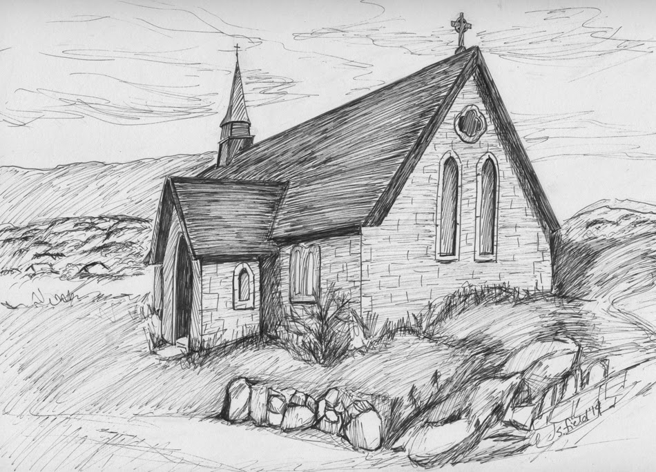 Ring Of Kerry Ireland Pen And Ink Location Link Sketch Gurl