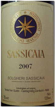 "One of The BEST VINTAGES of Recent Years ""SASSICAIA 2007"""