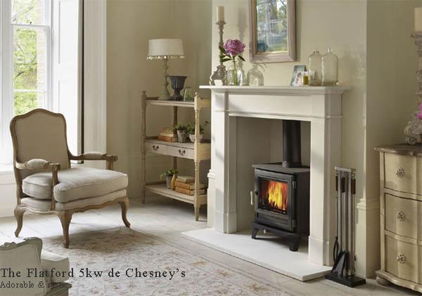 Estufa a leña _chesney stove dentro de chimenea