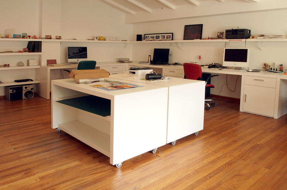 muebles a medida amoblamiento para estudio de diseño y publicidad