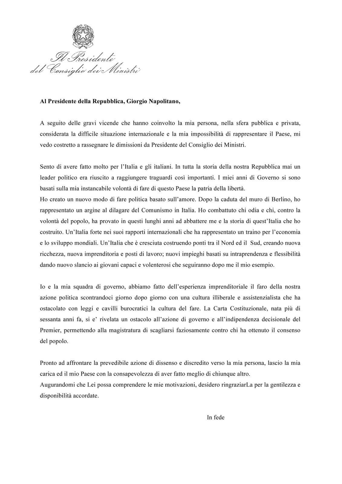 buuuuuuuuu la lettera di dimissioni the resignation letter