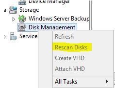 Ken Umemoto's vReality: Rescan Disks option Grayed Out