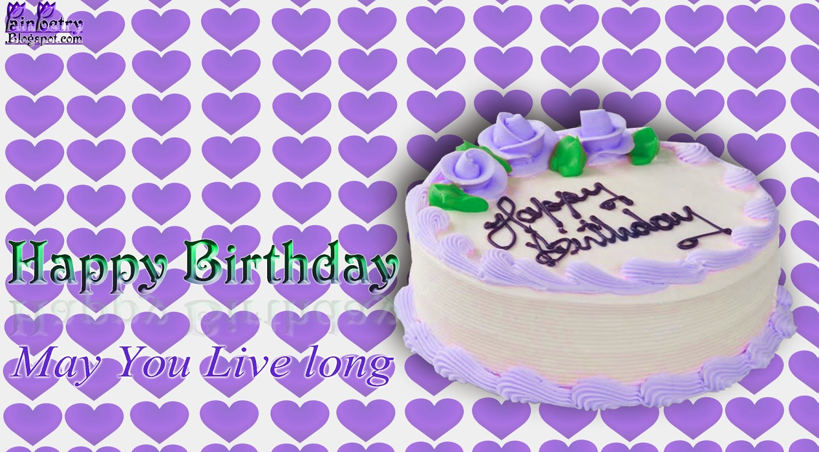 Happy-Birthday-Wishes-Walpaper-With-Purple-Hearts-Background-Image-Wide