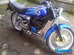modifikasi motor rx king warna biru terkeren