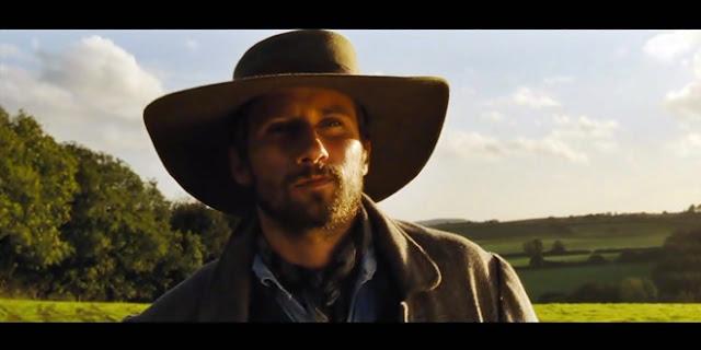 Gabriel Oak (Matthias Schoenaerts) dans Loin de la foule déchaînée, de Thomas Vinterberg (2015)