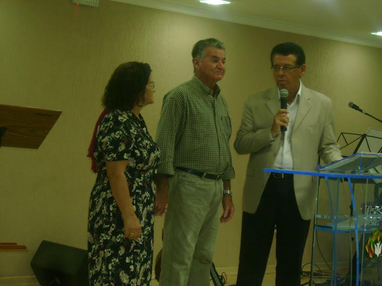 Culto ações graças para os missionários nosso Presb. Josias e a socia da saf Clice,