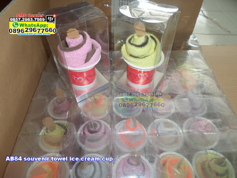 souvenir towel ice cream cup murah