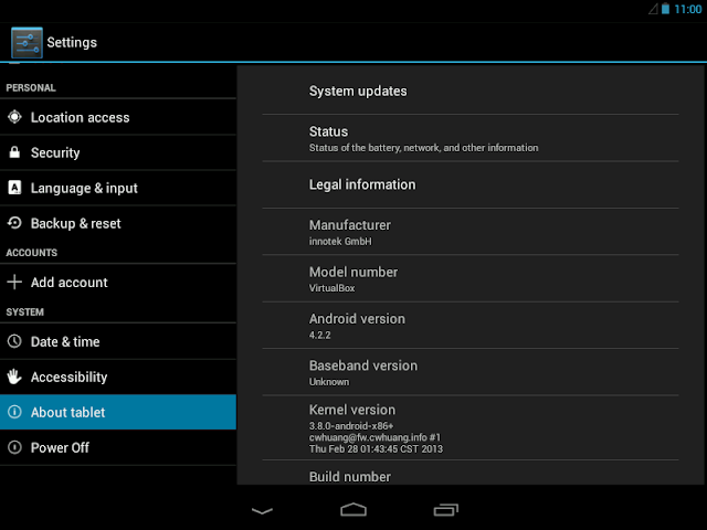 Android 4.2.2 x86